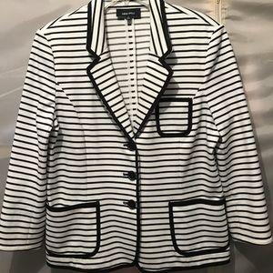 Black and white striped jacket blazer MACY's